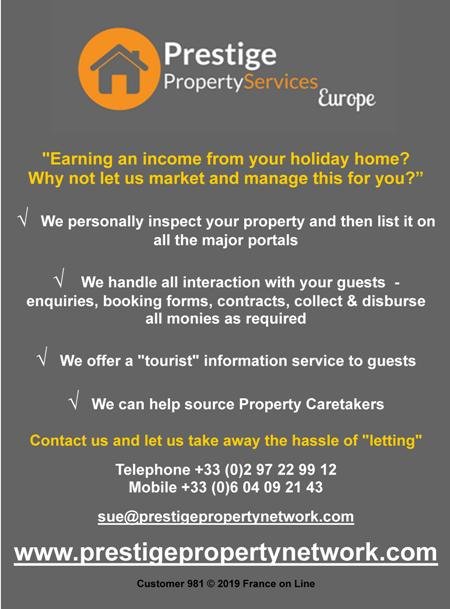 Prestige Property Services Europe,France,Limousin,Dordogne,Poitou Charente,English,earn and income from your holiday home,holiday home marketing,holiday home management,property caretakers,property management
