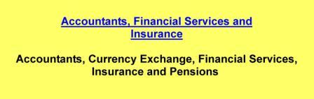 Accountants,Currency Exchange,Financial Services,Insurance and Pensions